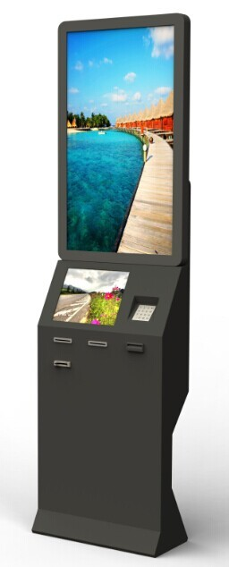 Card Payment Half Outdoor Information Kiosks With Webcam 2QR Barcode Scanner Kiosk