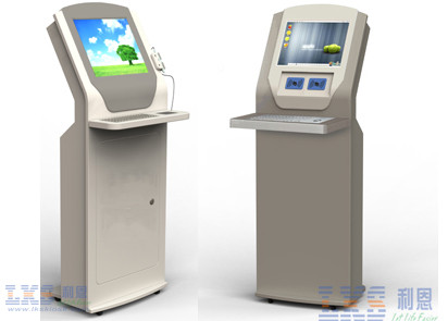 Banking MultiMedia Self Service Kiosk With Metal Keyboard Payment Kiosks
