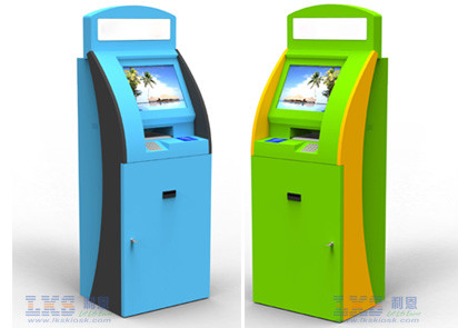 For Cash Validator Self Service Kiosk With POS Terminal , Information kiosk